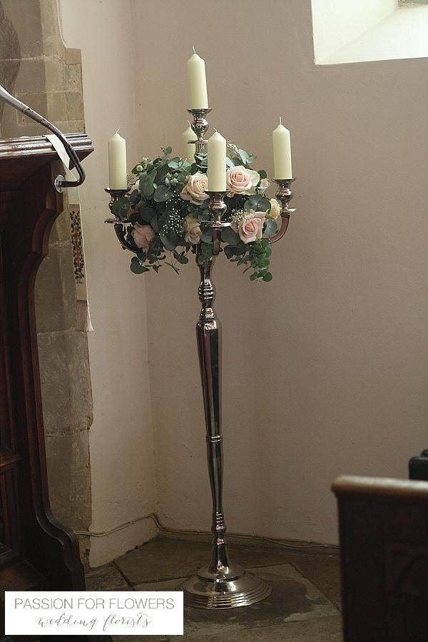 kilworth house wedding candelabra flowers