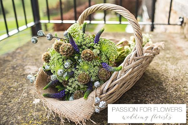 kingscote barn rustic green bridal bouquet wedding flowers