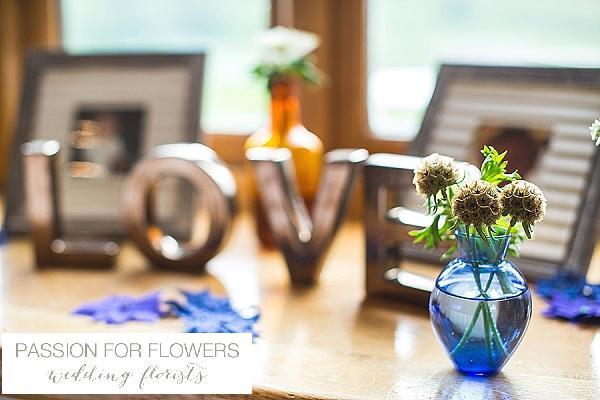 kingscote barn windowsill wedding flowers