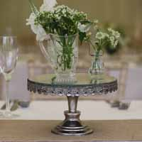 mirrored cake stands