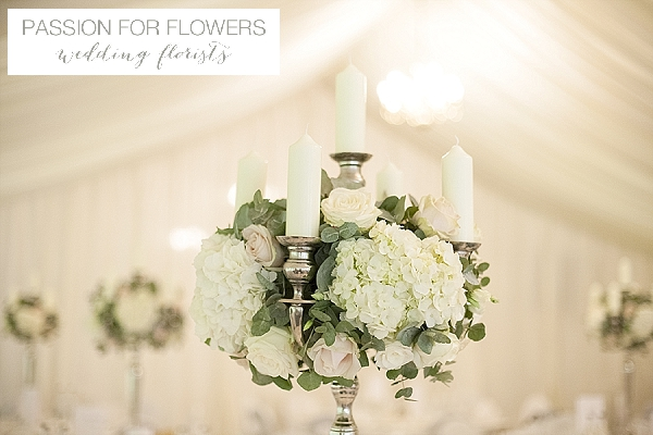 new hall wedding candelabra centreoieces  flowers