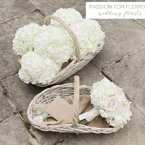 newhall wedding white hydrangea bouquets flowers