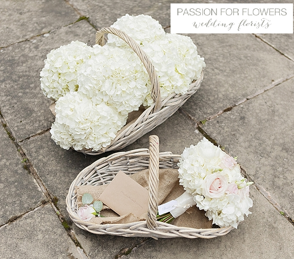 new hall wedding white hydrangea bouquets flowers