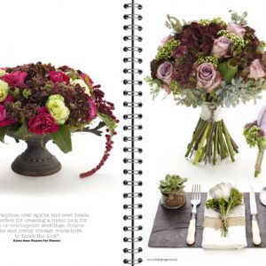 passion-for-flowers-wedding-flowers-magazine-pink-burgundy-flowers-in-urn-bouquet-place-setting-on-slate-with-succulent