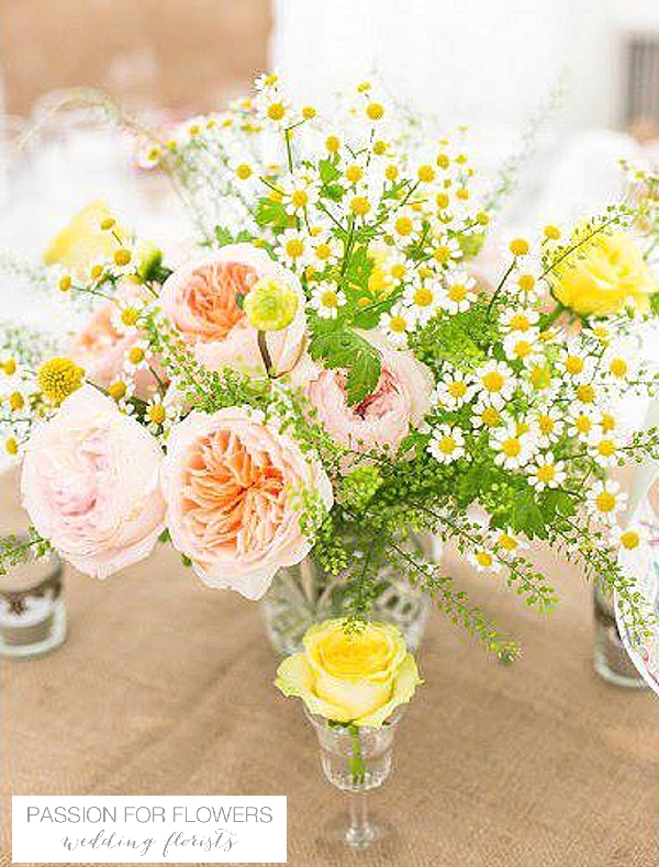 peach wedding centrepieces  flowers passion for flowers