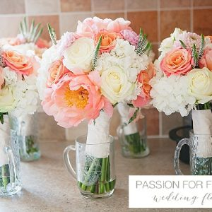 peach wedding flowers passion for flowers