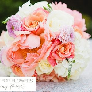 peach wedding bouquets flowers passion for flowers