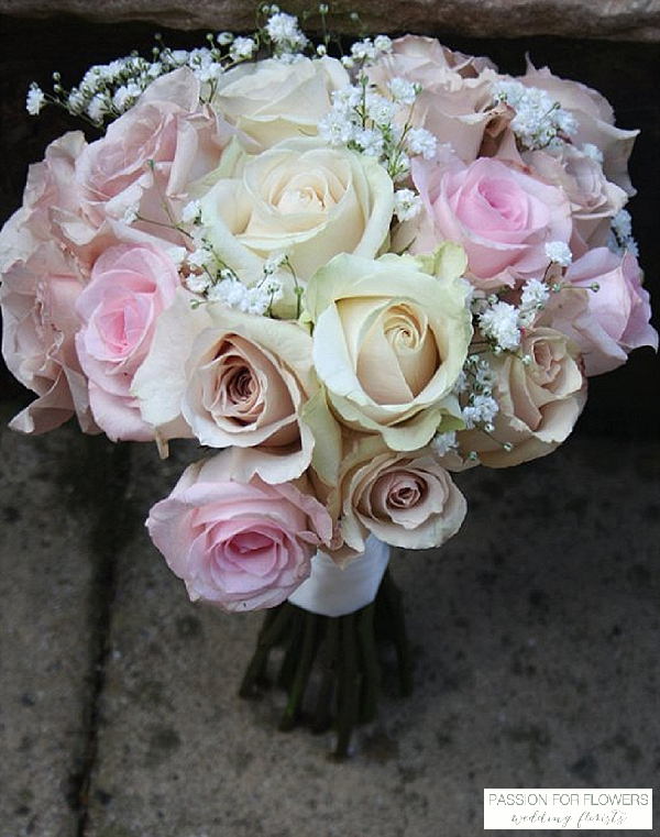 blush pink ivory rose bouquets wedding flowers passion for flowers wedding florists
