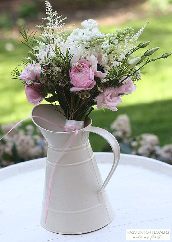 pink white country style bouquet wedding flowers passion for flowers wedding florists