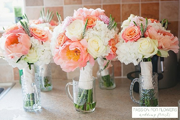 coral peony wedding bouquets  wedding flowers passion for flowers wedding florists
