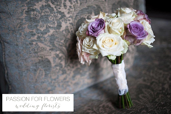 purple cream rose bouquets wedding flowers passion for flowers