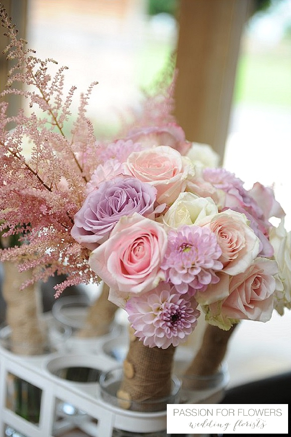 piink purple wedding bouquets flowers passion for flowers