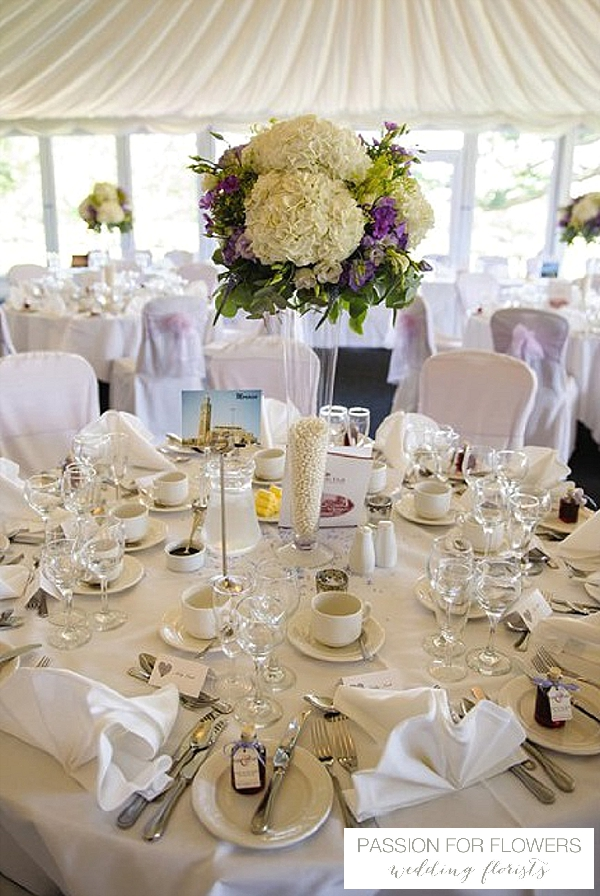 purple wedding candelabra flowers passion for flowers