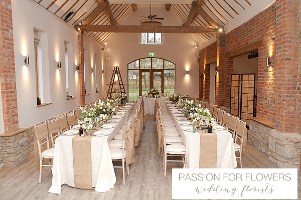hessian table runners the moat house dorsington wedding