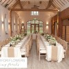 the moat house dorsington wedding flowers hessian table runners