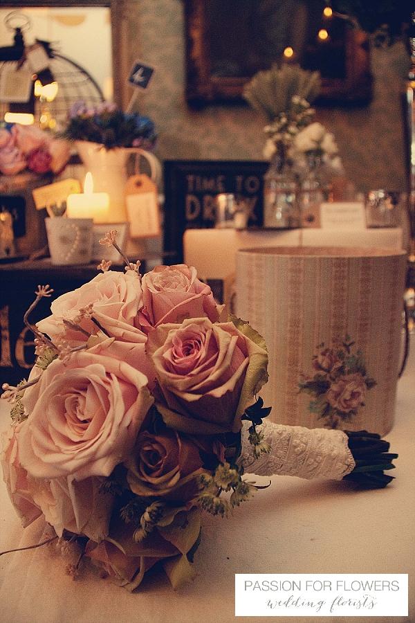 vintage rose bouquets wedding flowers