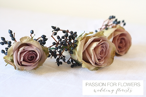 vintage roses button holes wedding flowers