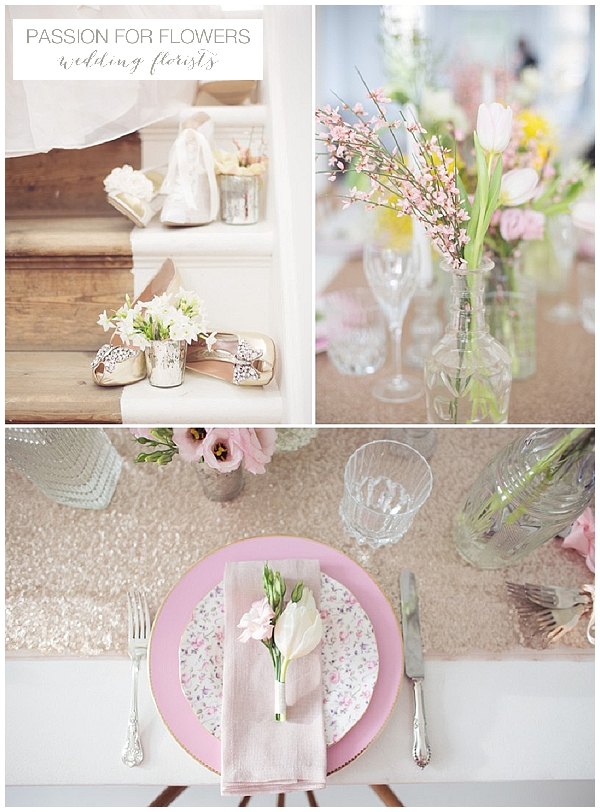 wedding flowers crystal vases sequins (1)