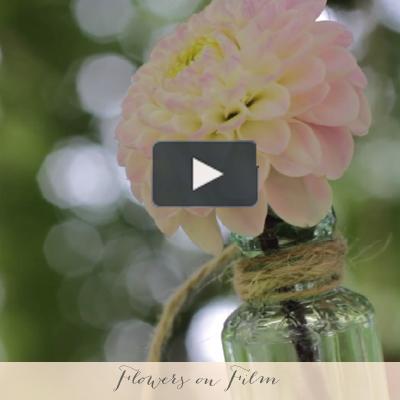 wedding flowers on film