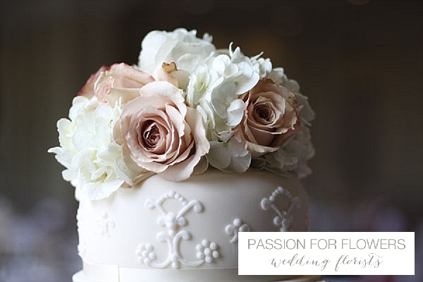 wedding cake flowers nude roses