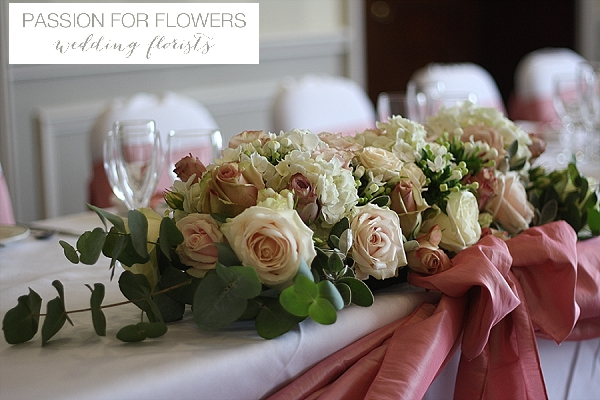 welcombe hotel wedding top table flowers