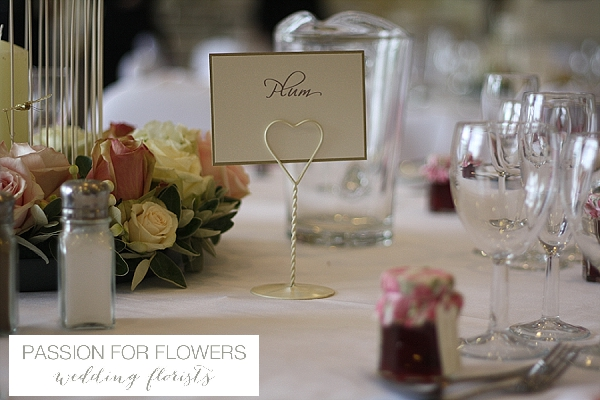 welcombe hotel wedding table names