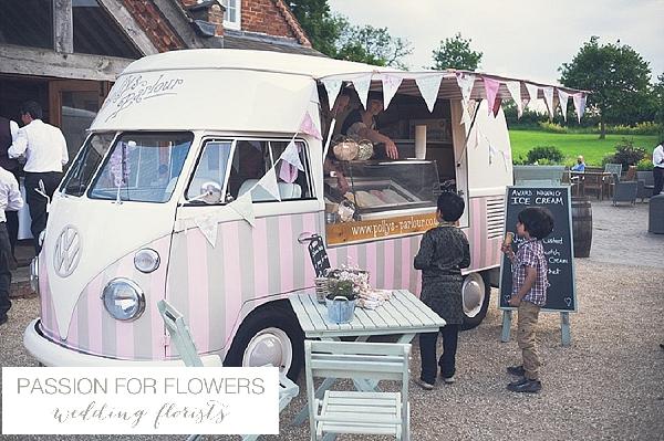 wethele manor wedding ice cream van