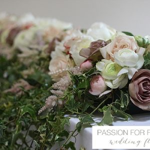 wethele manor wedding ceremony flowers