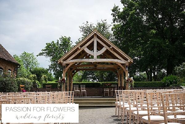wethele manor wedding flowers outdoor ceremony