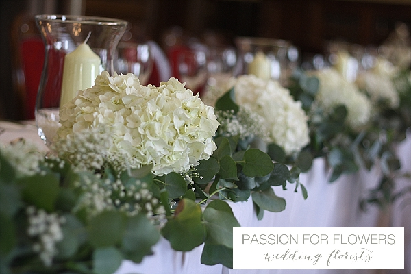 white top table flowers wedding flowers passion for flowers