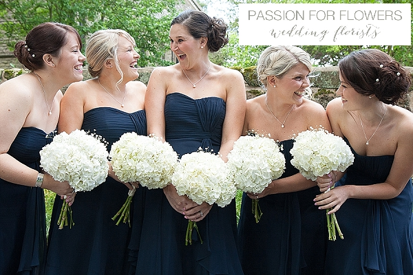 white bridesmaids bouquets wedding flowers passion for flowers
