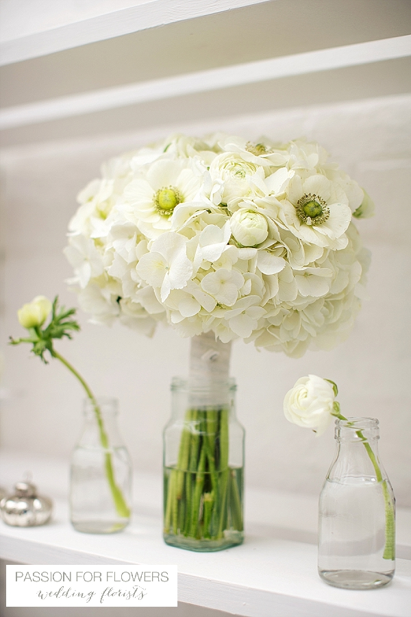white hydrangea anemone bridal bouquets wedding flowers passion for flowers