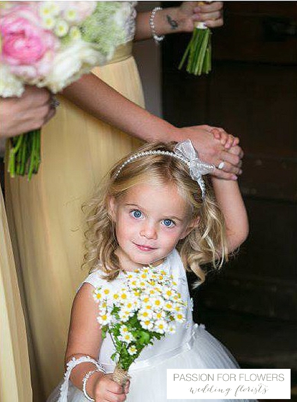yellow flowergirl daisy bouquets  wedding flowers passion for flowers
