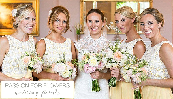 yellow bridesmaids bouquets wedding flowers passion for flowers