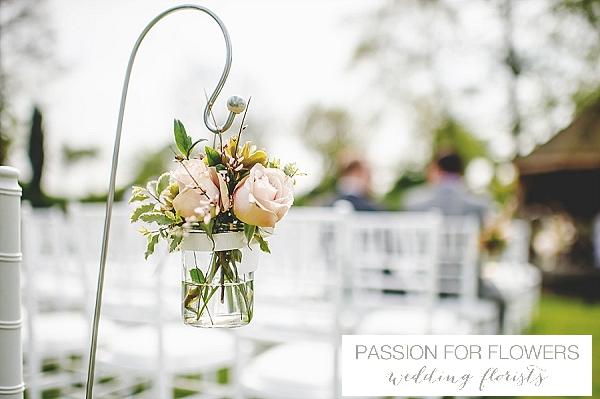 South farm wedding ceremony flowers shepherds crooks
