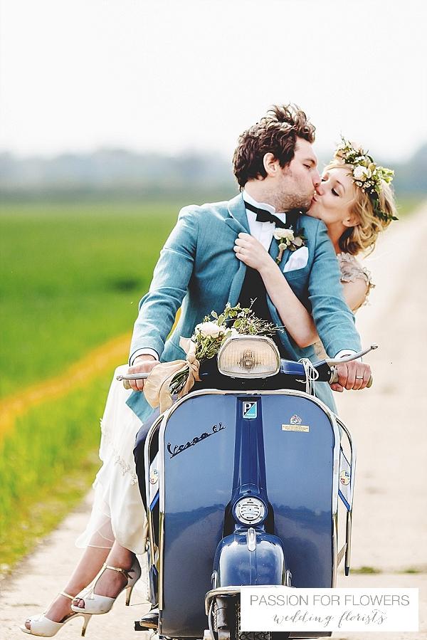 South farm wedding vespa