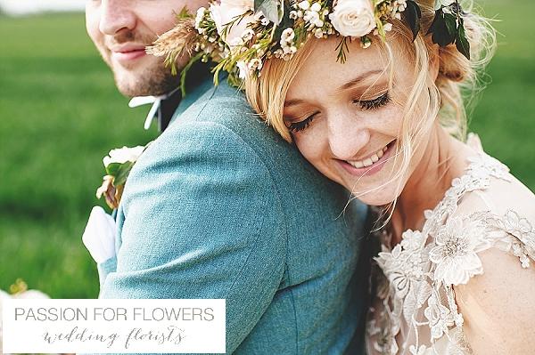 South farm wedding flower crowns