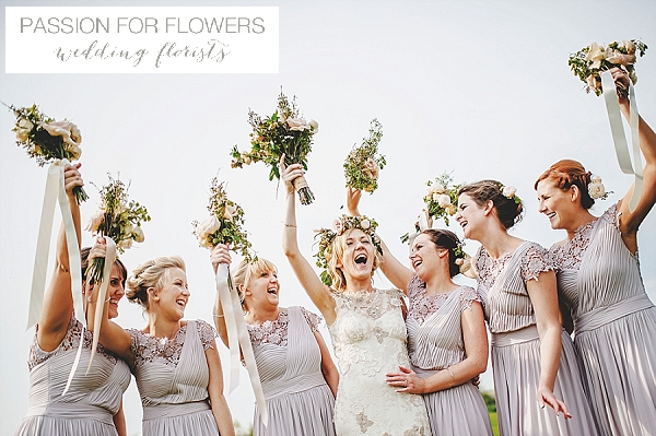 South farm wedding bridesmiads bouquets flowers
