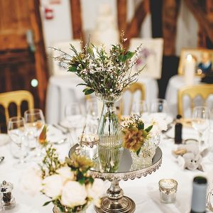 South farm wedding centrepiece flowers