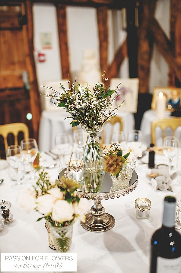 South farm wedding centrepiece flowers
