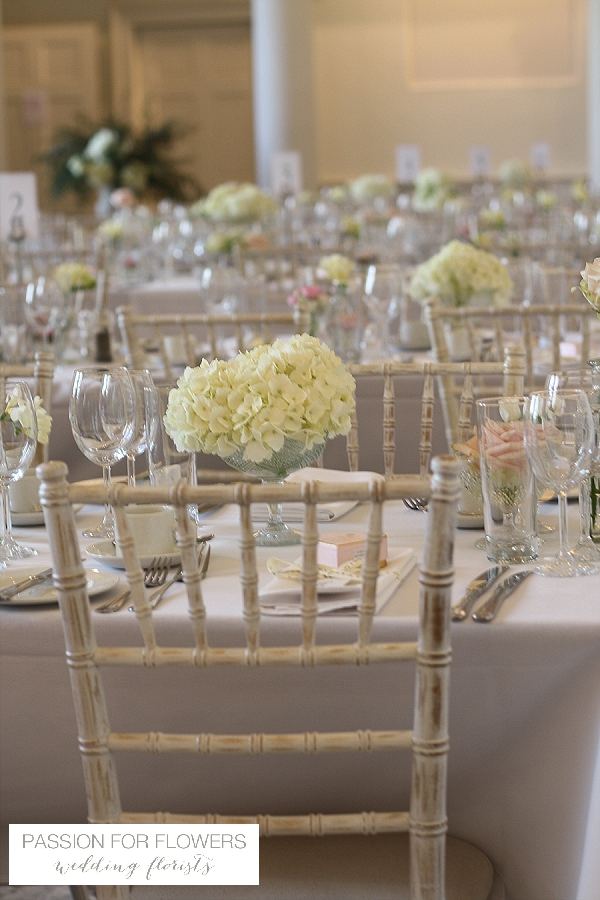Compton Verney Wedding Flowers Long Tables