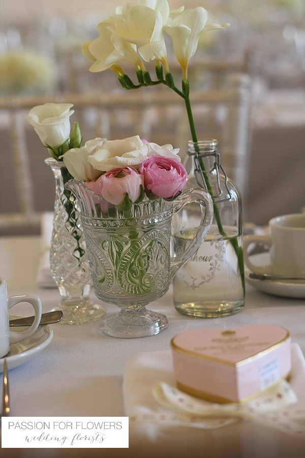 Compton Verney Wedding pink  Flowers