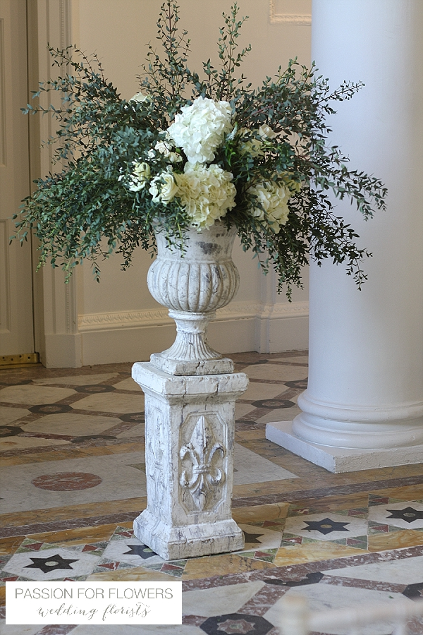Compton Verney Wedding Flowers Urns for Ceremony