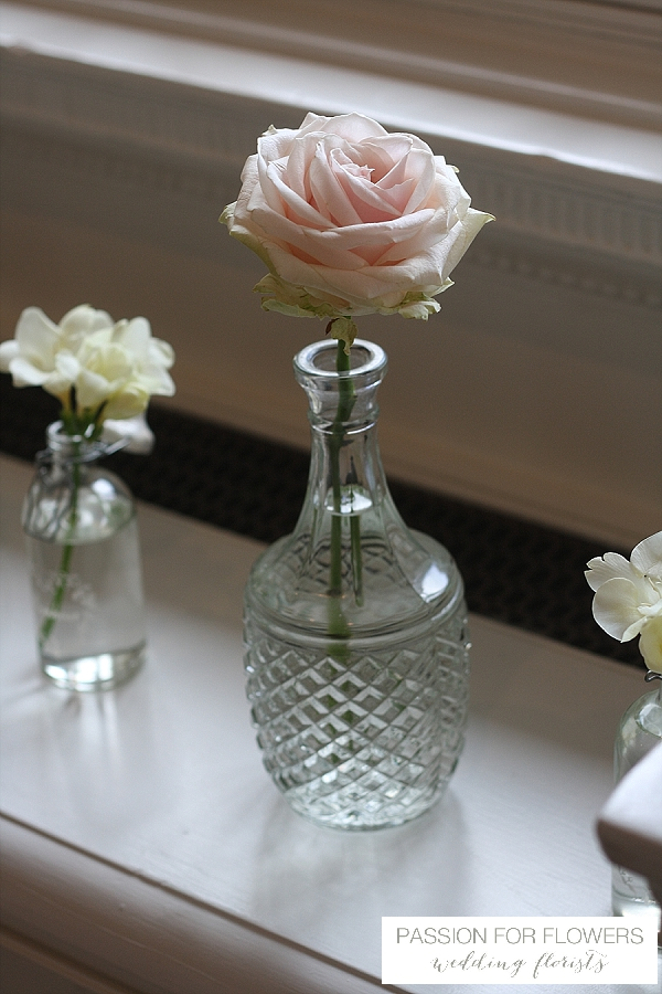Compton Verney Wedding Crsytal Vases Flowers