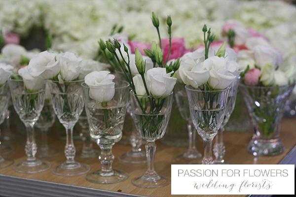 crystal vases wedding flowers