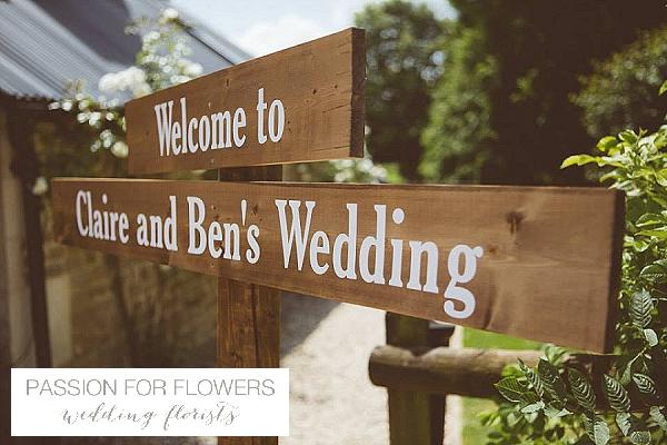 Cripps Barn Wedding Sign