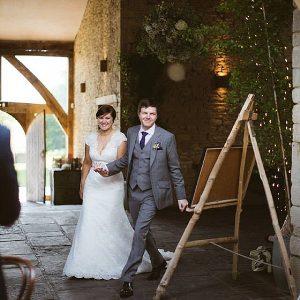 Cripps Barn Wedding Reception entrance
