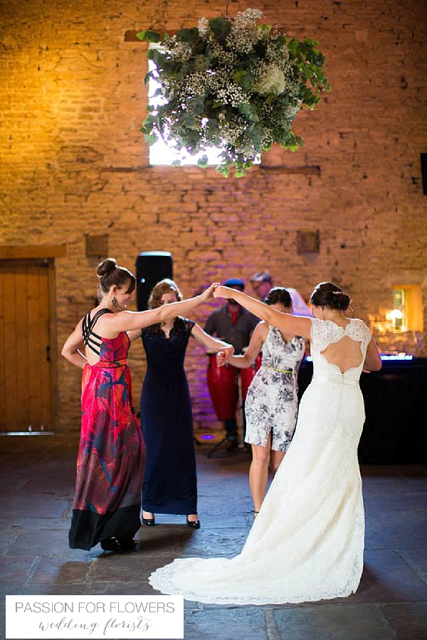 Cripps Barn Wedding Flowers Hanging Globes