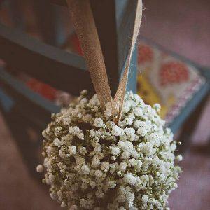 Cripps Barn Wedding Flowers Flower girl pommander white gypsophila