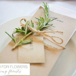 Rosemary napkin decorations wedding